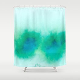 Green Blue Haze Shower Curtain