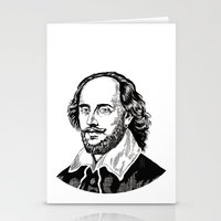 shakespeare Stationery Cards featuring Shakespeare by OnaVonVerdoux