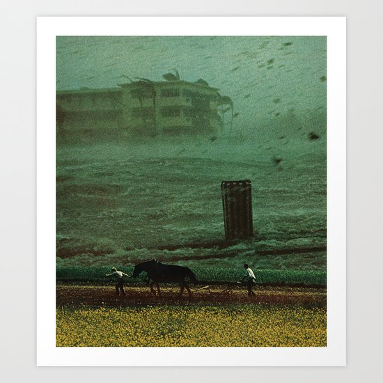 the rainy season Art Print