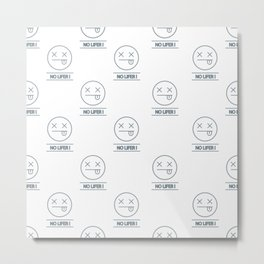 no lifer emoji face Metal Print