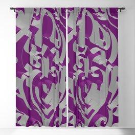 3D Ornamental Background Blackout Curtain