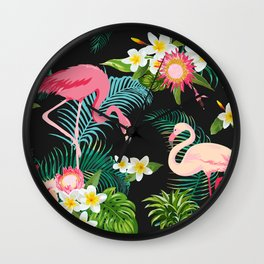 Flamingo Dance Wall Clock