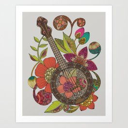Ever Banjo Art Print