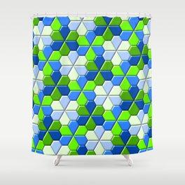 Blues & Greens Shower Curtain