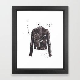 Motorcycle Jacket Framed Art Print