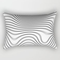 Organic Abstract 02 WHITE Rectangular Pillow