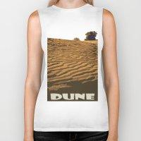 dune Biker Tanks featuring DUNE by Avigur