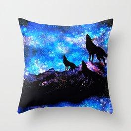 Wolf Trio Throw Pillow
