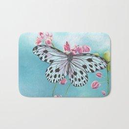 Japanese Paper Kite Butterfly Bath Mat