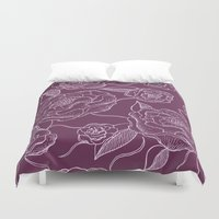 floral pattern Duvet Covers featuring Floral Pattern by Vickn