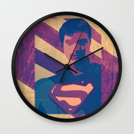 Retro Superman Wall Clock