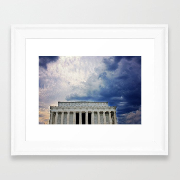 Dramatic Background Framed Art Print