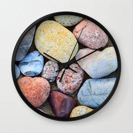 Beachy Rocks Wall Clock
