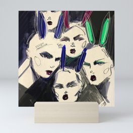 Hey, bunny! Mini Art Print