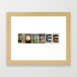 COFFEE Soft photo letter art typography Framed Art Print