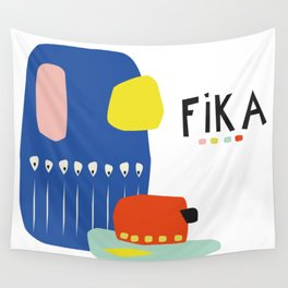Fika Collage Wall Tapestry