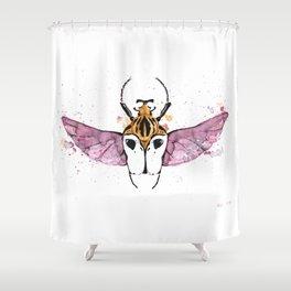 Goliathus cacicus Shower Curtain
