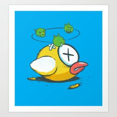 Not So Flappy now Art Print