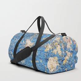 Textures in Blue Duffle Bag