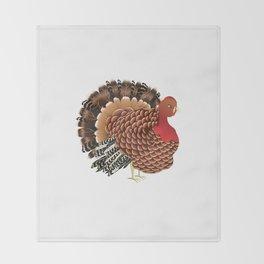 Cartoon turkey Throw Blanket