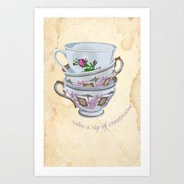 Take a sip of creativitea Art Print