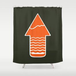 TAKE A H/KE Shower Curtain