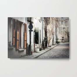 Cobblestone Alley Metal Print