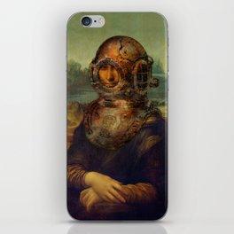Steampunk Mona Lisa - Leonardo da Vinci iPhone Skin