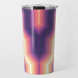 Retro Chevron Glow Travel Mug