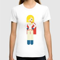 girl power T-shirts featuring Power Girl by Marco Recuero