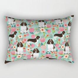 English Springer Spaniel florals cute dog art pet portraits by pet friendly dog breeds Rectangular Pillow