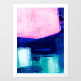 The edge of morning abstract Art Print