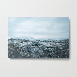 Winter in Iceland Metal Print