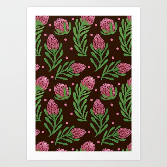 The Sweet Protea  Art Print
