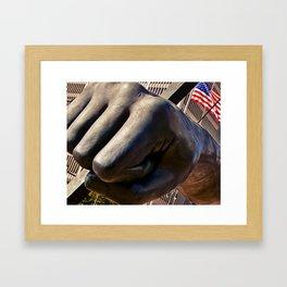 The Fist Framed Art Print