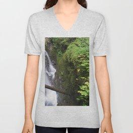 Sol Duc Falls Unisex V-Neck