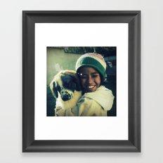 Amiga de Stuffy Framed Art Print