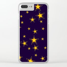 Shining Stars Seamless Pattern Clear iPhone Case