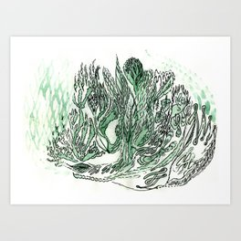 saltwater sleepy shakes Art Print