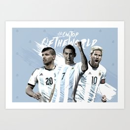 Argentina National Team Poster 2016 Art Print
