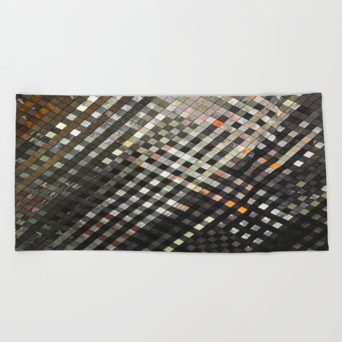 Checkered Reflections II Beach Towel