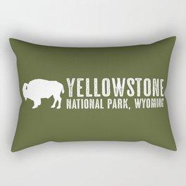 Bison: Yellowstone National Park Rectangular Pillow