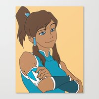 korra Canvas Prints featuring Korra by Nicky Severein