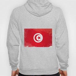 Tunisia Grunge Flag Hoody