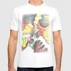 Flying towards nowhere White MEDIUM Mens Fitted Tee
