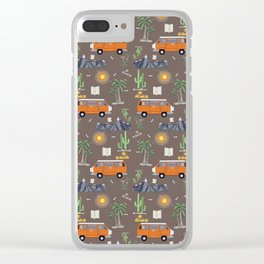 The Van Life (Pattern Vers.) Clear iPhone Case