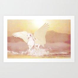 HORSE - Pegasus Art Print