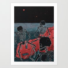 Beachghosts Art Print