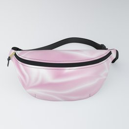 Pink silk satin pattern in light color Fanny Pack