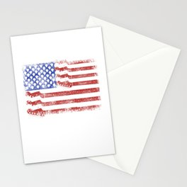 Guitar American Rock Gift US Flag Rock Guitars Concert Music Festival Stationery Cards